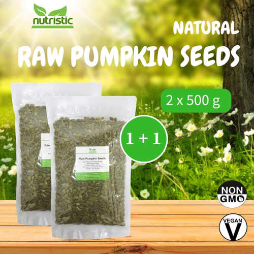 Natural Raw Pumpkin Seeds 500g x2 - Value Bundle 1+1