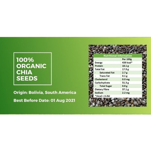 Organic Chia Seeds [500g] - Value Pack