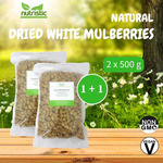 Natural Dried White Mulberries x2 - Value Bundle 1+1