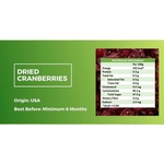 Dried Cranberries 500g - Value Pack