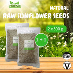 Natural Raw Sunflower Seeds 500g x2 - Value Bundle 1+1