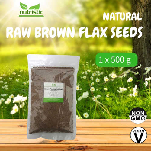 Natural Raw Brown Flax Seeds 500g