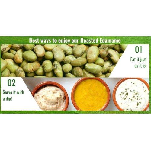 Dry-Roasted Green Soybeans Edamame 500g x2 - Value Bundle