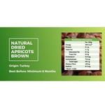 Dried Natural Apricots 500g Brown - Value Pack