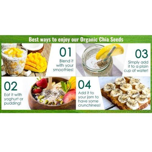 Organic Chia Seeds [500g] x2 - Value Bundle 1+1