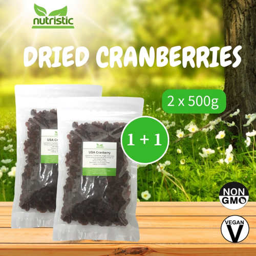 Dried Cranberries 500g x2 - Value Bundle 1+1