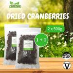 Dried Cranberries 500g x2 - Value Bundle 1+1
