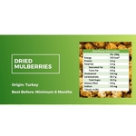 Natural Dried White Mulberries 500g - Value Pack