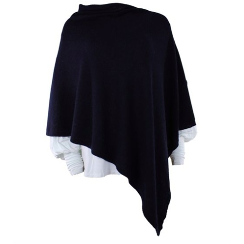 Cashmere-Wool blend Poncho