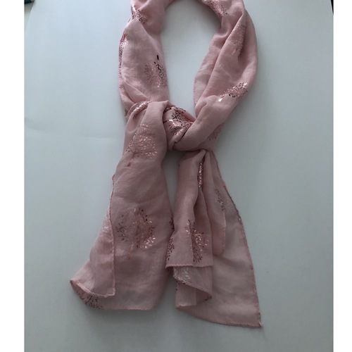 Scarf with Rose Gold Detail