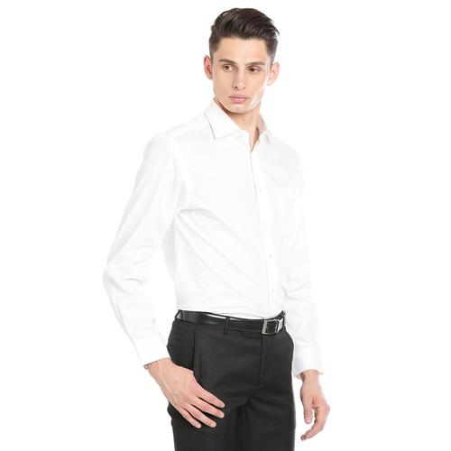 Paradigm White Color Formal Pure Cotton Non-Iron Shirt