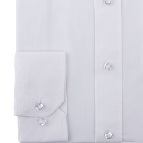 Double Two White Long Sleeve Non-Iron Cotton Rich Shirt
