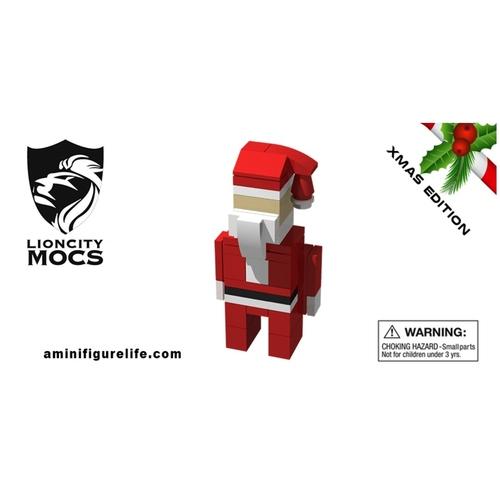 Santa Claus Christmas Ornament - Seasonal Building Kit 801
