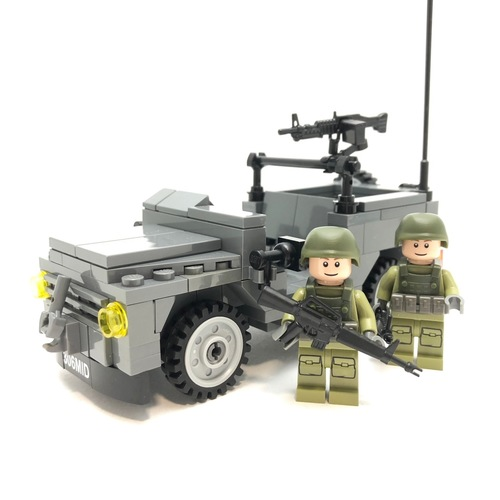 MB240 Scout Jeep Minifigure Scale - Instructions