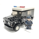 Police Land Rover Defender Minifigure Scale - Instructions