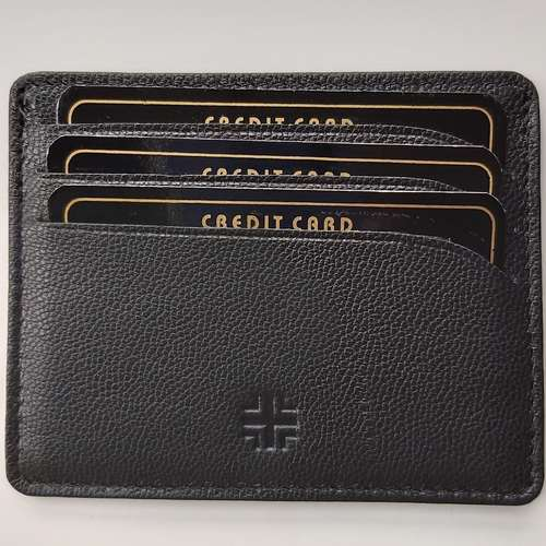 Card Holder in Leather- Black