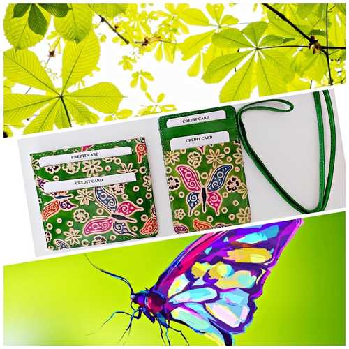 Eco Trends Card Holder & ID Holder Lanyard Set - Green