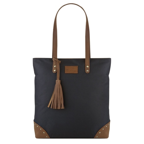 Berlin  Leather Accents Tote Black