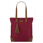 Berlin  Leather Accents Tote Maroon