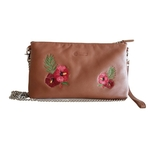 Kelly Embroidered Sling Tan