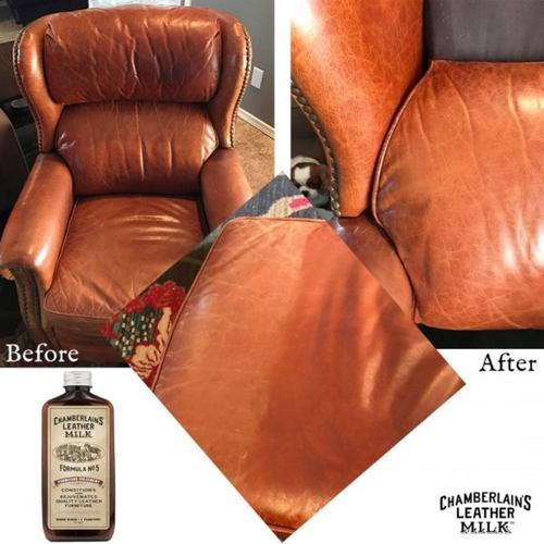 CHAMBERLAINS LEATHER MILK CLEAN & CONDITION FURNITURE LEATHER CARE SET NO. 2 & NO. 5 - 6 oz