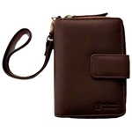 Fiona Zipper Style Wallet with Wristlet Brown