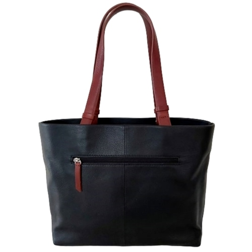 Sintra Premium Shopper Shoulder Bag Black & Brown