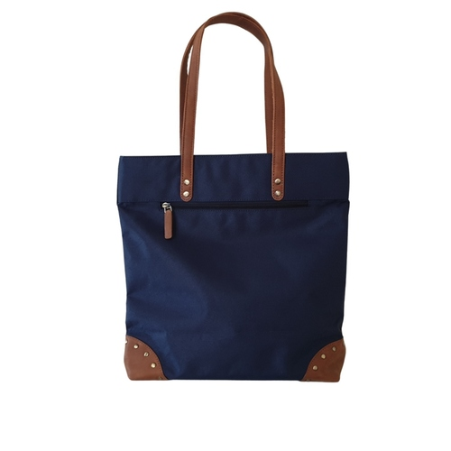 Berlin Leather Accents Tote Navy