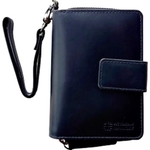 Fiona Zipper Style Wallet with Wristlet  Blue