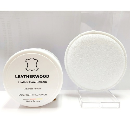 Leatherwood Balsam 250ml - (LAVENDER) - Cleaner, Conditioner ,Water Repellent - All Leathers including Shoes, Handbags, Garments, Furniture, Automotive Leathers - Made in Germany.With Applicator Pad.