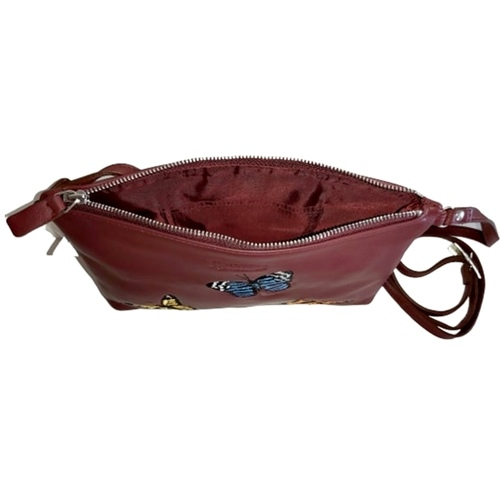 Kelly Embroidered Sling Maroon