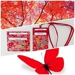Eco Trends Card Holder & ID Holder Lanyard Set - Red