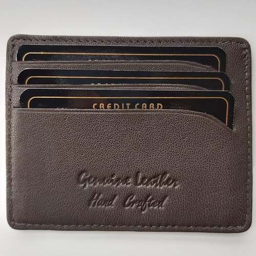Card Holder in Leather- Brown