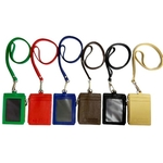Omni ID,Card & Coin holder with Lanyard ,Black