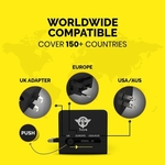 Plug Pack Pro Universal Travel Adaptor , 150+ Countries Compatibility