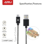 ARU Cotton Braided Type-C Cable