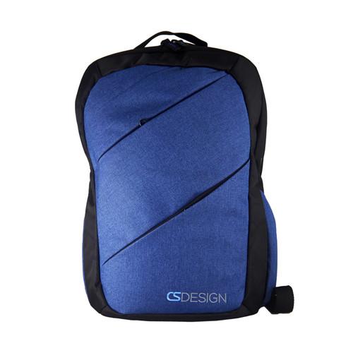 Cross Zipper - B/Blue