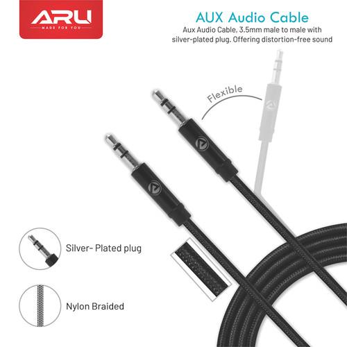 ARU Nylon Braided Aux Cable