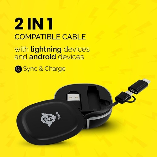 Go Charge Pro Cable Organiser With Retractable Cable For Android and iOS