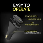 Go Connect Car Charger With Mono Headset