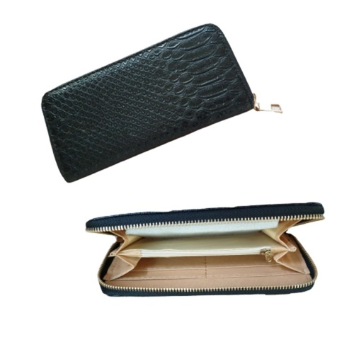 Emma Long Wallet Crocodile pattern