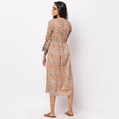 Naksh casual kurti with flared sleeves