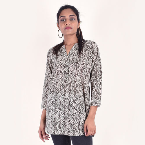 Naksh Leisure Short Kurti Block print