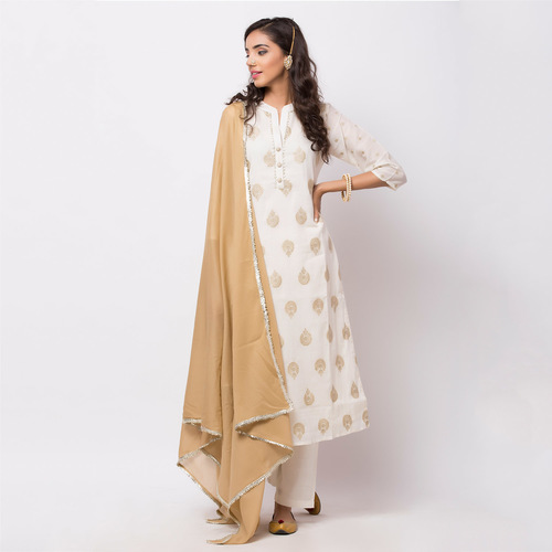 Naksh Semi-Festal Kurti Mul Embroidered