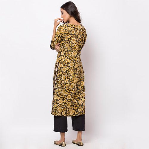 Naksh Kur-pa Kalamkari Kurti-Pallazo Set