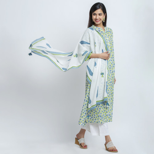 Naksh casual kurti with dupatta set