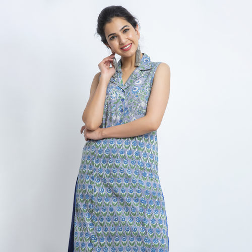 Naksh sleeveless casual Kurti