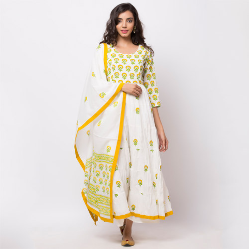 Naksh Casual Kurti and Dupatta Set