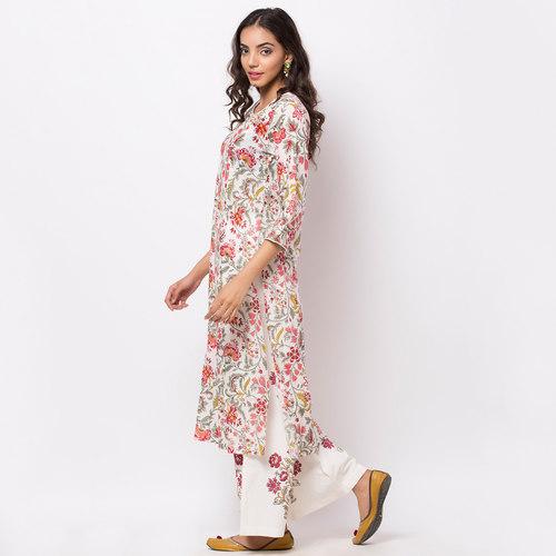 Naksh Kur-pa Jaal Kurti-Pallazo Set