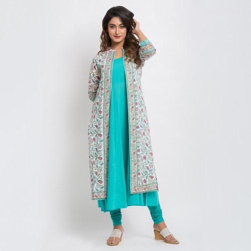 Naksh Semi Festal jacket style Kurti